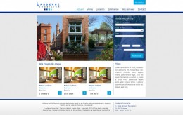 Site internet Lardenne Immobilier - Graphisme et intgration