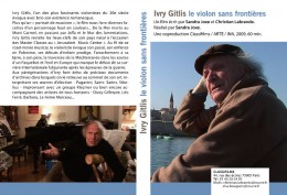 Image : Jaquette du dvd sur Ivry Gitlis - 1