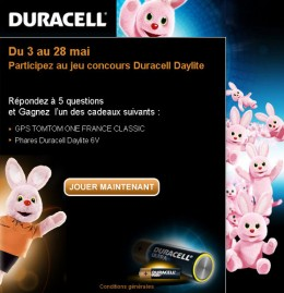 Image : Emailing Duracel