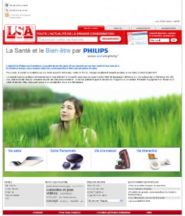 Image : Page publicitaire Philips