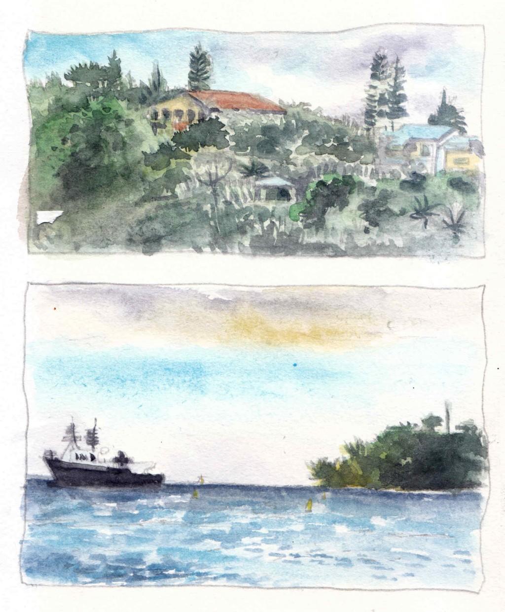 Vue de la Baie des Citrons, à Nouméa - Nouvelle Calédonie