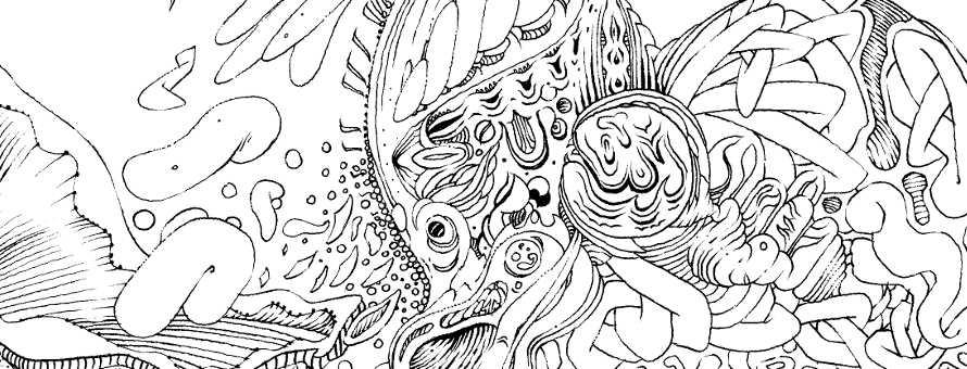 Image à la une - Série limitée dessin au trait, noir et blanc, 21x29,7