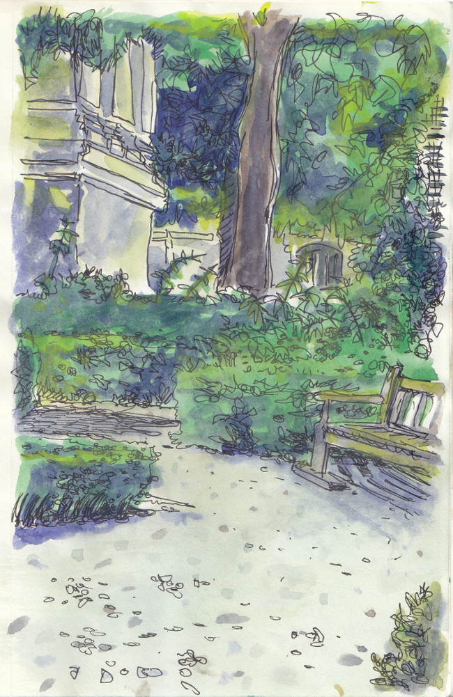Dessin - Jardin des Archives nationales
