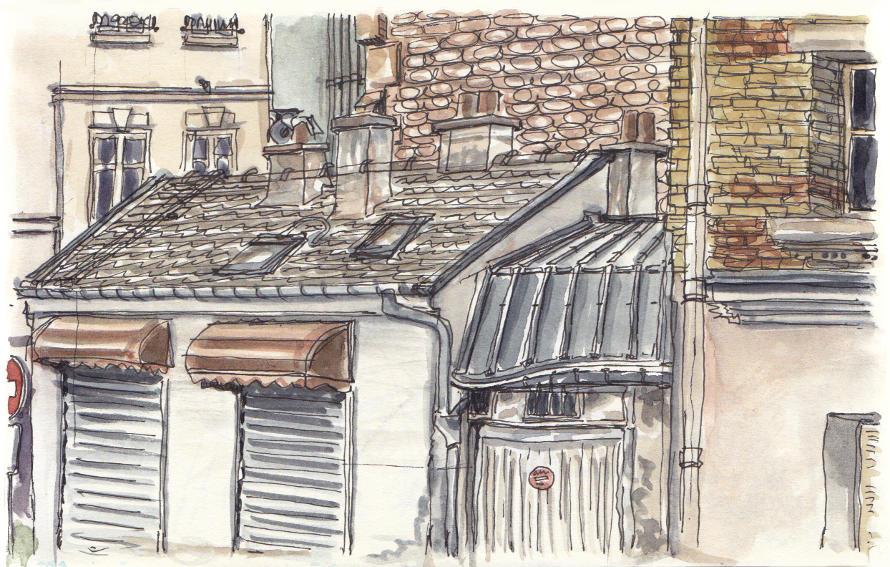 Dessin - Rue Decrès 75015