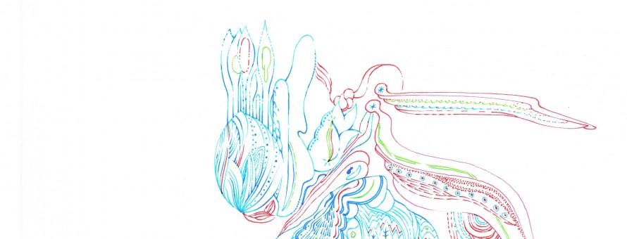 Lignes, dessin abstrait