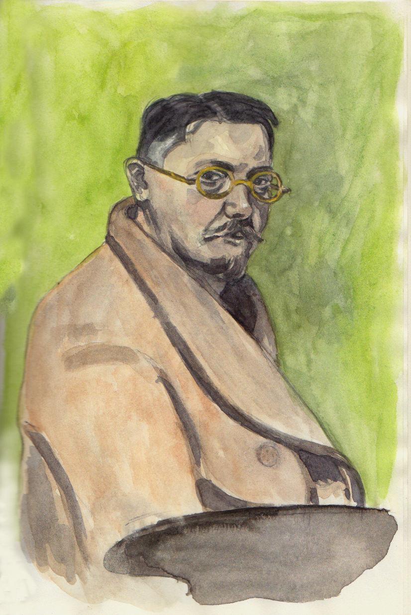 """Félix Vallotton """" Autoportait à la robe de chambre"""""""